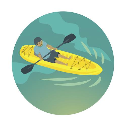 Guided Kayak Expedition, Kailua, Oahu, Hawaii