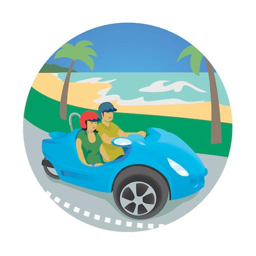 Scoot Coupe Day Rental, Waikiki, Oahu, Hawaii