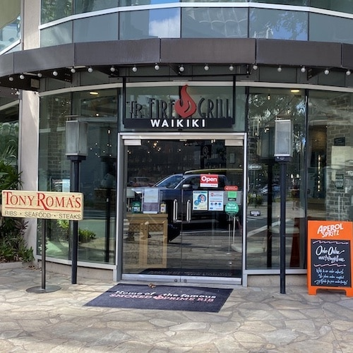 Tony Roma's Fire Grill, Waikiki, Oahu