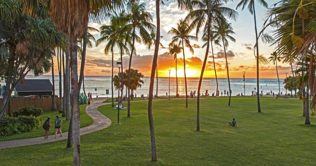Fort DeRussy Beach Park, Waikiki, Oahu