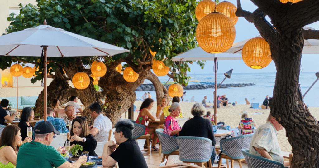 Hau Tree, Kaimana Beach Hotel, Outdoor Dining Venues in Waikiki