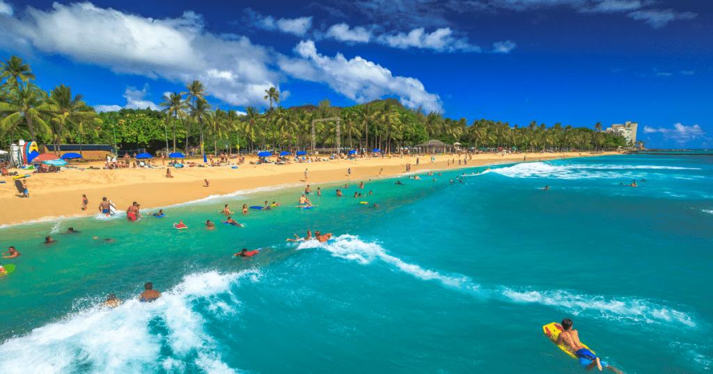 Queen's Surf Park, Waikiki, Oahu